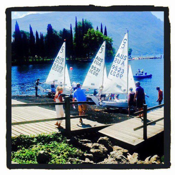 Hobart crew leading Cadet Worlds